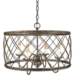 Quoizel-Dury-4-Light-Drum-Pendant