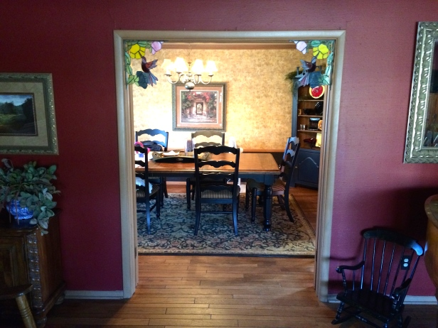 From LR in to Dining room